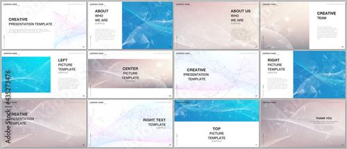 Foto Presentation design vector templates, multipurpose template for presentation slide, flyer, brochure cover, infographic report presentation