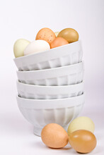 Eggs In White Bowls