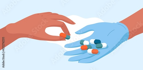 Medical concept vector stock illustration for pharmacy, healthcare and medicine Fototapete