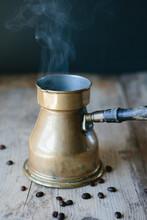 Turkish Coffee In Turkish Coffee Pot