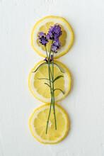 Lemon Slices With English Lavender
