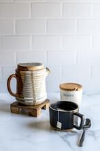 Tea With Pottery Teapot