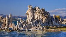 The Striking Limestone Tufa Towers At Dusk Along The Shoreline Of The South Tufa Area At Mono Lake, Near Lee Vining, California