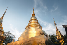 Golden Thai Temples And Pagodas