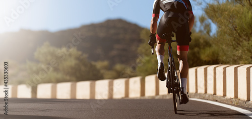 Canvas Print Road bike cyclist man cycling, athlete on a race cycle