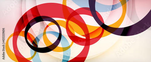 Fotografering Ring geometric shapes, o letter repetition wallpaper