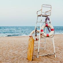 Life Guard Chair Flotation Buoy Sea Shore Concept