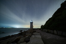 夜の伊良湖岬灯台