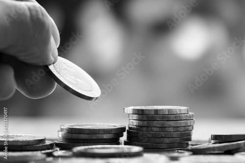 Macro shot of financial concept Fototapeta