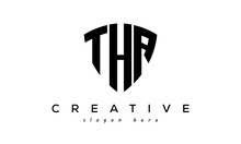 THA Letters Creative Logo With Shield