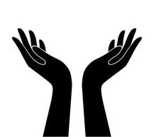 Hands Holding Design Vector, Hands  Logo Vector