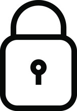 Lock Icon Isolated. Protection, Safety, Password Security. Access Privacy Sign. Lock Open, Closed, Key Line Vector Illustration