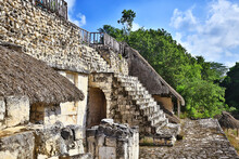 Mexico Pyramids Mayan Ancient City, Landscape Pre-columbian America Chicenica Maya