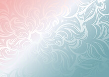 Dreamy Gradient Wallpaper With Stylized Floral And Leafy Patterns. Vector Background