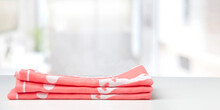 Stack Of Towels On The Table