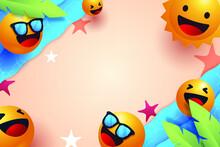 Emoji Summer Background