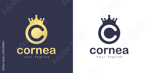 Fototapeta The letter C logo has a kingdom concept