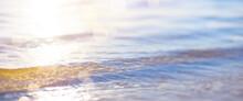Bokeh Sunset Light Background On Summer Sea Beach