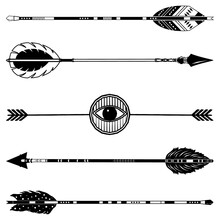 Tribal Arrow Culture And Religion Collection Set