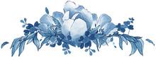 Delft Blue Floral Bouquet, China Blue, Wedding Bouquet, Leaves, Floral Swirl