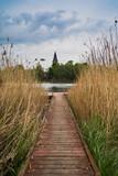 Fototapeta Fototapety do łazienki - widok kościoła nad jeziorem