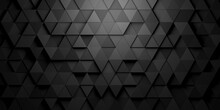 Black Triangles Shifted Mosaic Abstract Background Pattern Geometrical Design With Ligth From Top