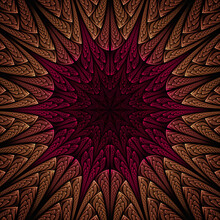 3d Effect - Abstract Mandala Style Pattern