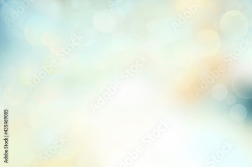 Abstract blue background with bokeh