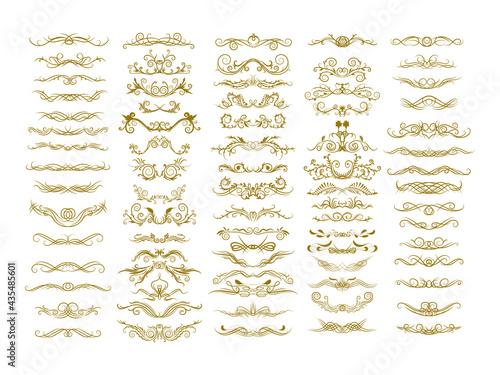 Canvastavla classical decorative elements vector