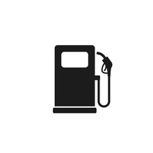 Gas Station Sign Vector Isolated Simple Icon