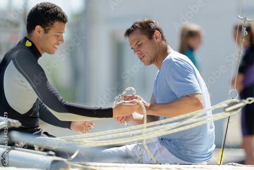 Obraz na plátně team and sport sailors training