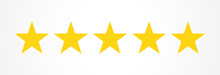 Five Stars Quality Rating Icons.