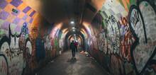Graffiti On A Wall Urban Tunnel New York