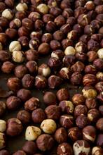 Closeup Of Hazelnuts