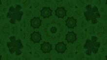 Green Kaleidoscope Motion Background