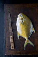 Whole Fish On Cutting Board