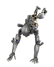 Super Robot Is Doing Parkour