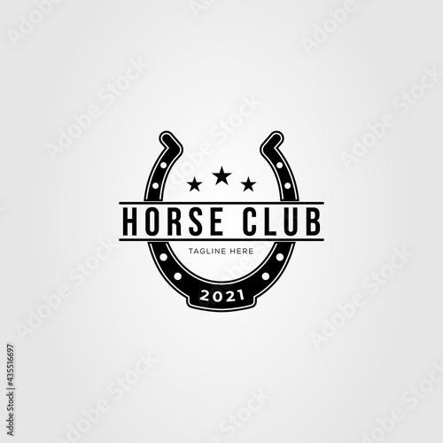 blacksmith horseshoe stable logo vector illustration design Fototapet