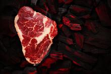 Ribeye Steak Over Hot Coal