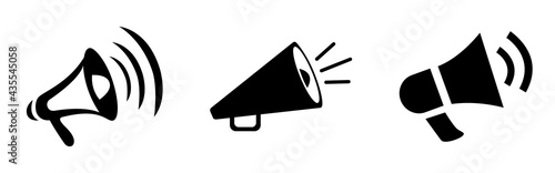 black megaphone vector