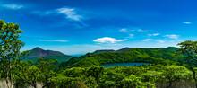 大幡池_韓国岳が映る霧島の静かな火山湖 コバルトブルーが美しい
