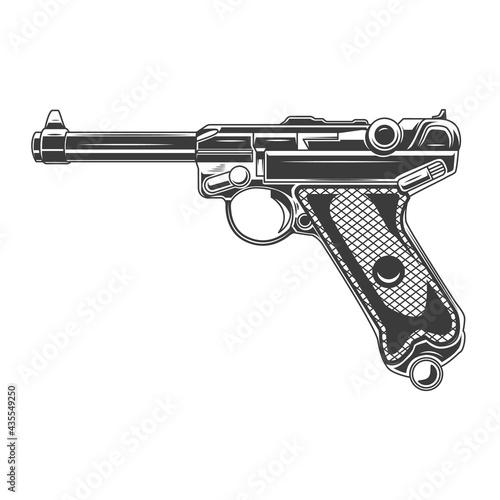 Fotografija Illustration of parabellum handgun