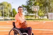 Disabled Basketball Player, Young Girl.