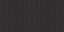 Black Brick Wall Texture Background Graphic Design With Copy Space For Text.