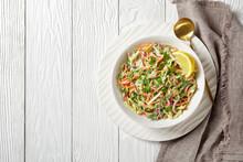 Juicy Low Calorie Coleslaw Salad, Top View