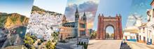 Spain Famous Landmarks Collage