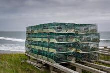 Lobster Pots Piled Up, Newfoundland & Labrador, Canada