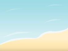 砂浜のベクターイラスト