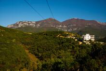 TIRANA, ALBANIA: Dajti Express Gondola Lift To Dajti Mountain