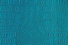 Blue Crocodile Leather Texture. Abstract Backdrop For Design.
